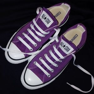 Purple Converse low top All Star